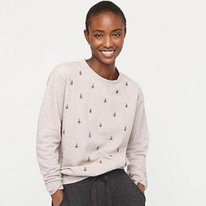 J.crew embellished sweatshirt in cotton terry